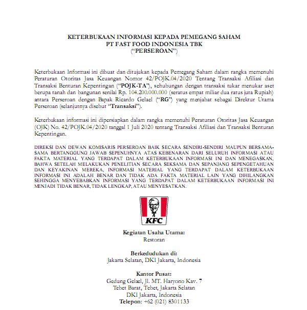 Press Release Kfc Indonesia